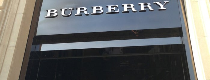 Burberry is one of Barcelona shopping.
