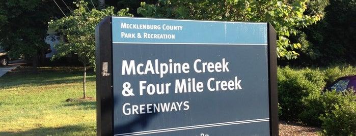 McAlpine Creek  & Four Mile Creek Greenways is one of Outdoor Activities.