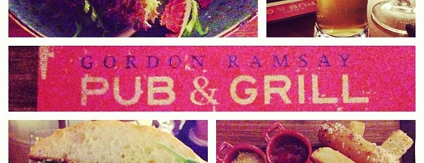 Gordon Ramsay Pub & Grill is one of 10 restaurants in Vegas with cool bar scenes.