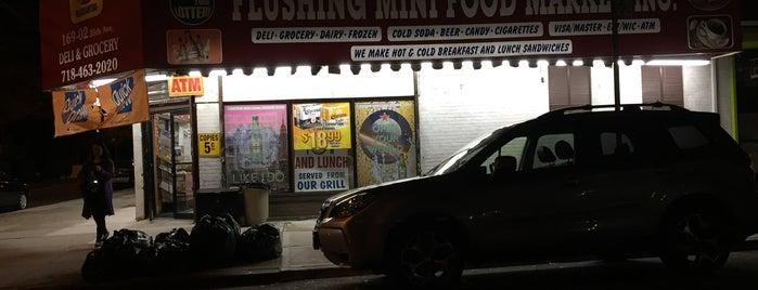 Flushing Food Market is one of Tempat yang Disukai Montana.