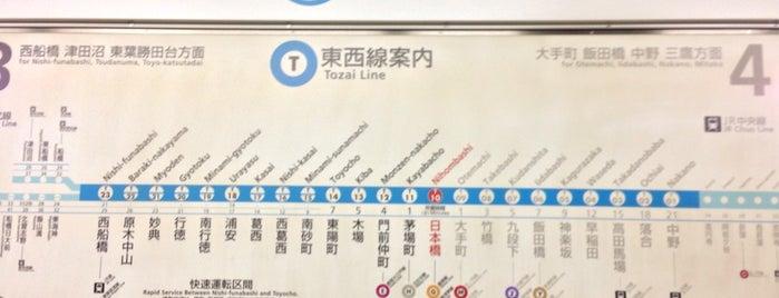Tozai Line Nihombashi Station (T10) is one of Tempat yang Disukai Shank.