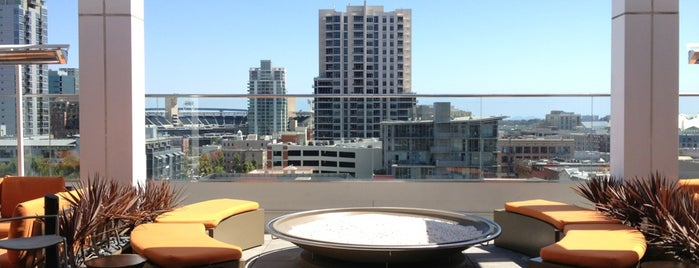Andaz Rooftop Lounge is one of SD.