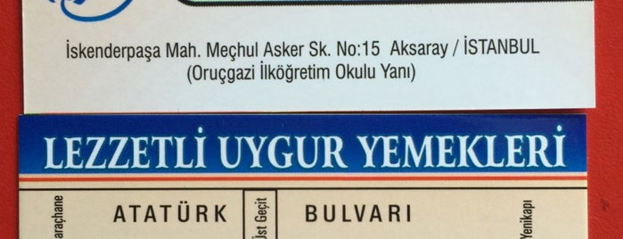Akyol Uygur Lokantasi is one of Dünya mutfağımsı.