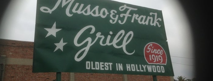 Musso & Frank Grill is one of Jonathan Gold 101 - LA Times.
