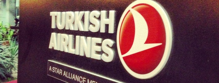 Turkish Airlines CIP Lounge is one of Orte, die Kerem gefallen.