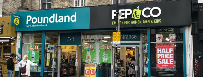 Poundland is one of Londres.