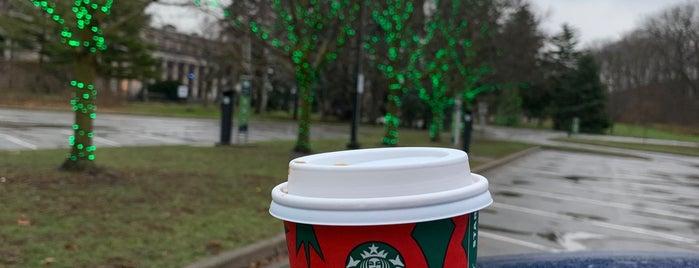 Starbucks is one of Orte, die Nate gefallen.
