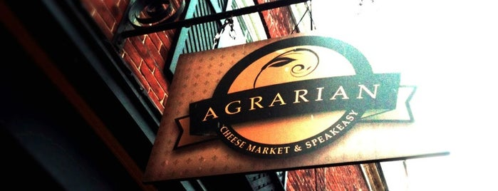 Agrarian Cheese Market & Speakeasy is one of All Time Favorites.