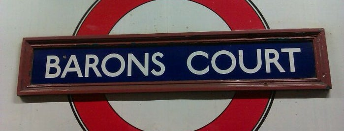 Barons Court London Underground Station is one of Underground Stations in London.