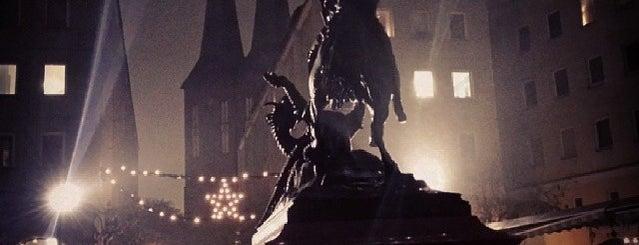 """Bronzestatue """"Heiliger St. Georg im Kampf mit dem Drachen"""" is one of Berlin Best: Sights."""