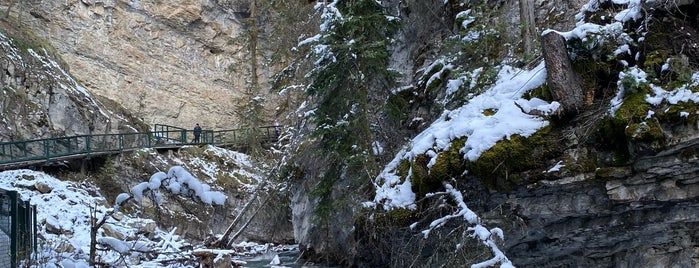 Lower Falls of Johnston Canyon is one of Alberta - Wild Rose Country.