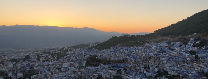 Chefchaouen's View Point is one of Morocco.