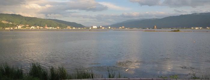 一ツ浜公園 is one of 諏訪湖ポタ♪.