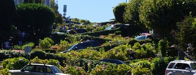 Lombard Street is one of San Francisco Bay.