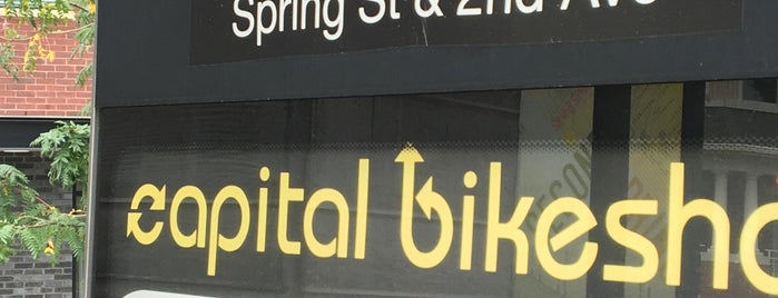 "Spring St & 2nd Ave capital bikeshare is one of ""Been there, done that.""."