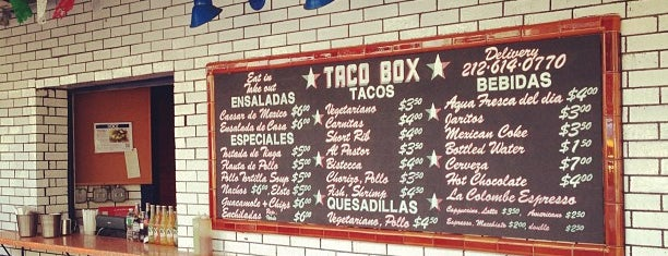 Bowery Taco Box is one of NYC Favorites.