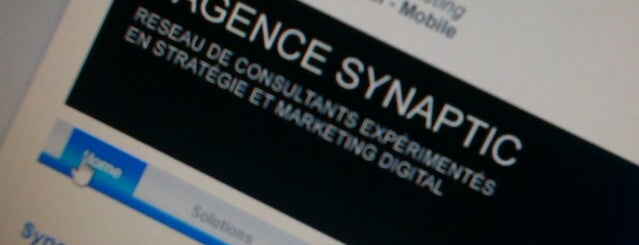 Agence Synaptic is one of Locais salvos de Agence Synaptic.
