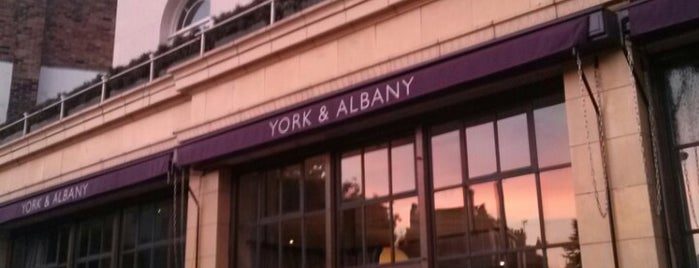 York & Albany is one of Meals.
