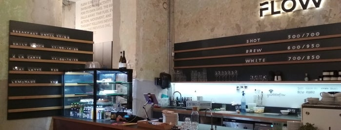Flow Specialty Coffee Bar & Bistro is one of Vegan Budapest.