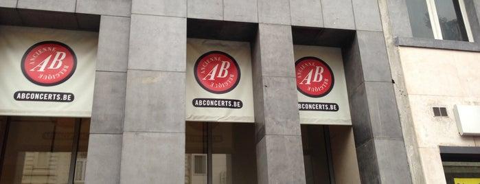 AB Ancienne Belgique is one of Bruxelles.