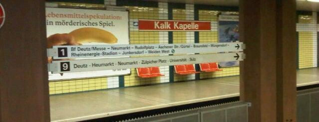 U Kalk Kapelle is one of Köln-Kalk.