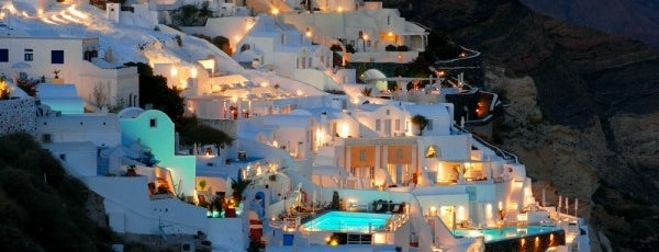 Santorini is one of Greece.