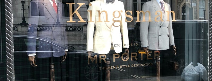 Kingsman X Mr Porter Shop is one of London for P' Arenui.