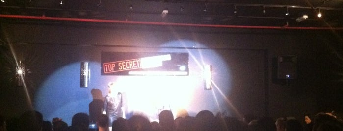 Top Secret Comedy is one of London date places.