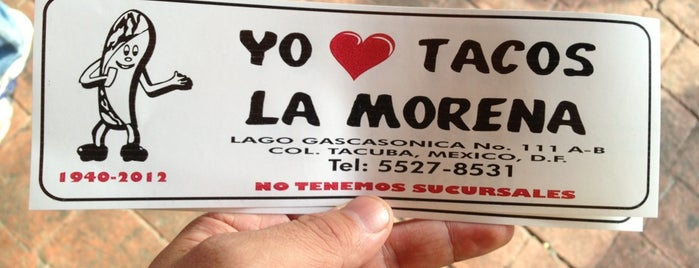 Tacos La Morena is one of Df.