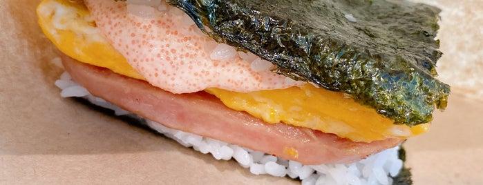 pork tamago onigiri is one of Angela 님이 저장한 장소.