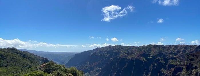 Waimea Canyon Trail To Waipo'o Falls is one of Kauai.