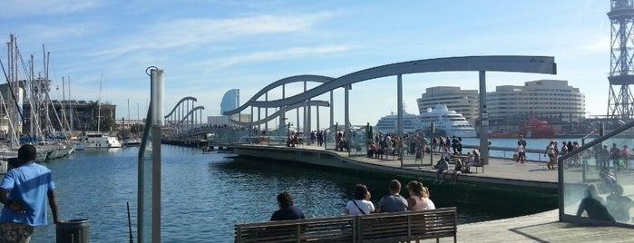 Rambla de Mar is one of Spain. Barcelona.