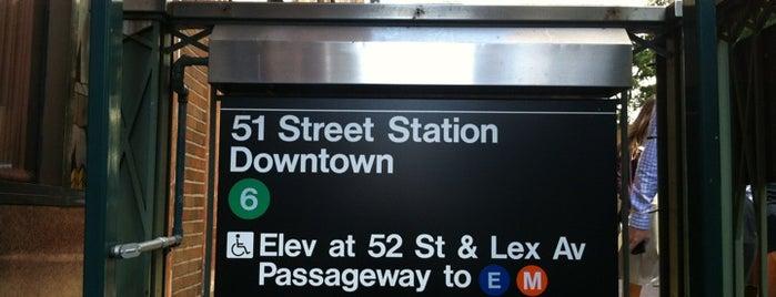 MTA Subway - 51st St (6) is one of Nova York.