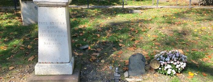 Paul Revere's Tomb is one of Boston.