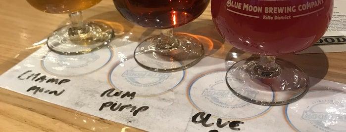 Blue Moon Brewing Company @ RiNo District is one of Orte, die Kelley gefallen.