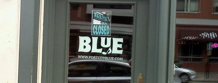 Blue is one of Portland, Maine.