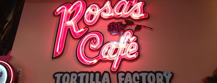 Rosa's Cafe & Tortilla Factory is one of Tempat yang Disukai KATIE.