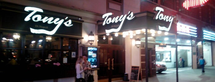 Tony's Di Napoli is one of Theater Eats.