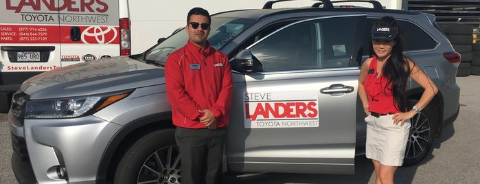 Steve Landers Toyota NWA is one of Increase your Fayetteville City iQ.