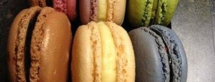 Macaron Café is one of New York City Coffee by Subway Stop.