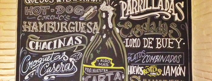 Corcho's taberna is one of Rotulados por rotulacionamano.com.