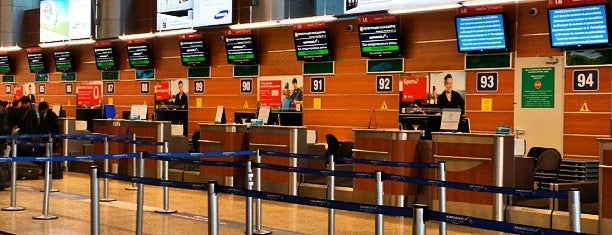 Check-in Area (D) is one of США ПЕРЕЛЕТ.