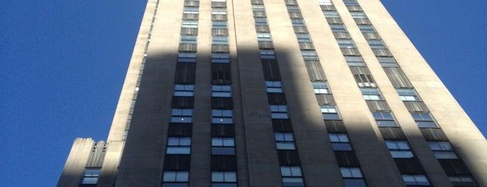 Rockefeller Center is one of New York City - April 2013.
