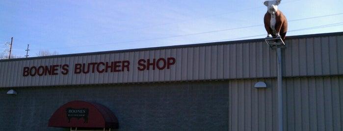 Boone's Butcher Shop is one of Locais curtidos por Leslie.