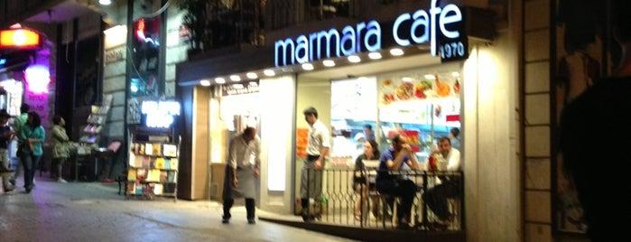 Marmara Cafe is one of สถานที่ที่ Selin ถูกใจ.