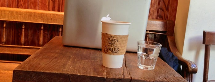 Smile To Go is one of • a coffee & a laptop.