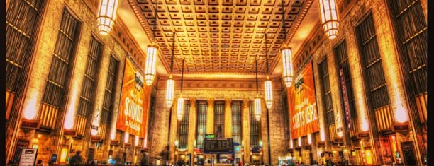 30th Street Station is one of places.