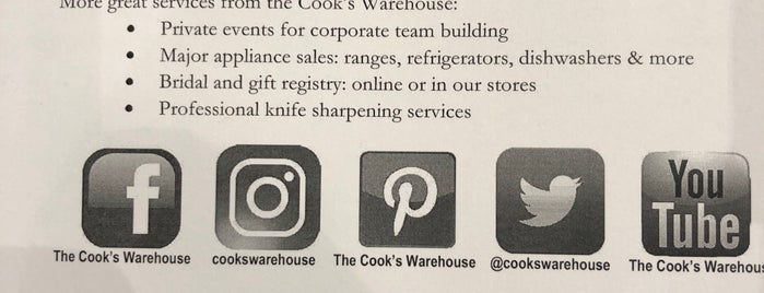 The Cook's Warehouse is one of The Chad.