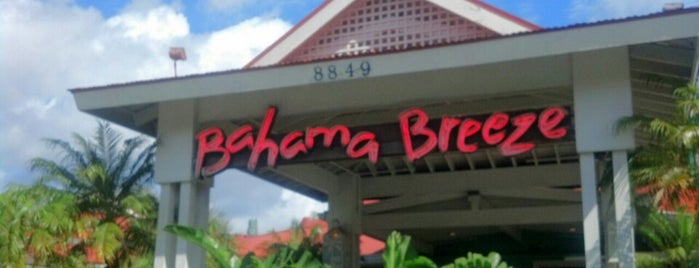 Bahama Breeze is one of Orlando shopping.