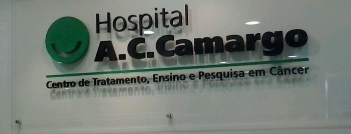 A.C.Camargo Cancer Center is one of Tempat yang Disukai Rômulo.